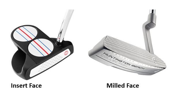 How To Choose The Right Putter, Insert Or Milled Putter Face